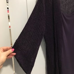 Eileen Fisher 2 pc purple set. Tank and sweater